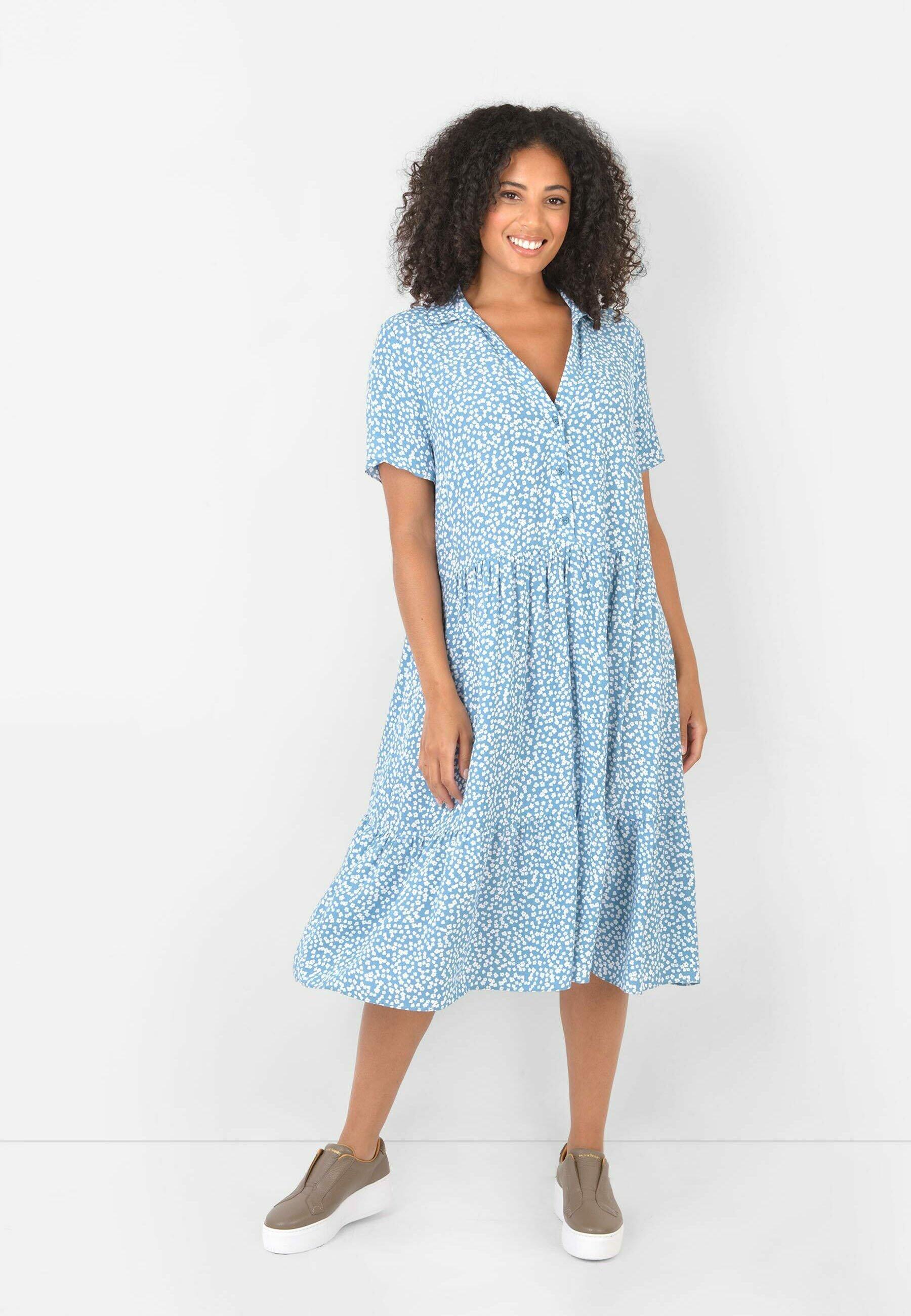 Damen BLUE DITSY SUSTAINABLE TIERED - Freizeitkleid