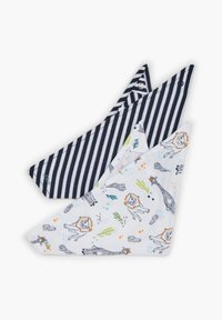 s.Oliver - 2 PACK - Bib - dark blue stripes/white aop - 1