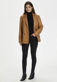 Karen by Simonsen - Leather jacket - tobacco brown - 1