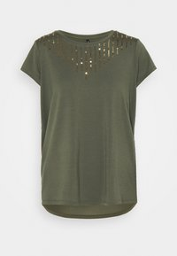ONLBRIELLE GRACE BLING BOX - Print T-shirt - kalamata/gold