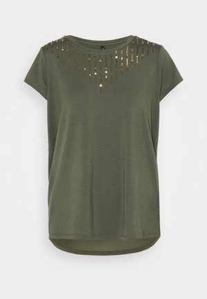 ONLBRIELLE GRACE BLING BOX - T-shirt print - kalamata/gold