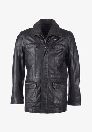 PELZIMITAT - Leather jacket - black