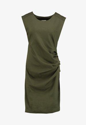 INDIA ROUND NECK DRESS - Etuikjole - grape leaf