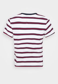Tommy Jeans - REGULAR CONTRAST BABY TEE - Print T-shirt - white - 7