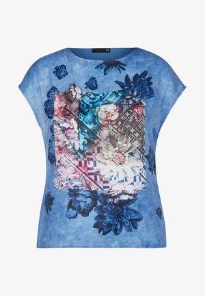 Print T-shirt - hellblau