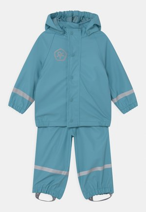 SET SOLID UNISEX - Waterproof jacket - delphinium blue