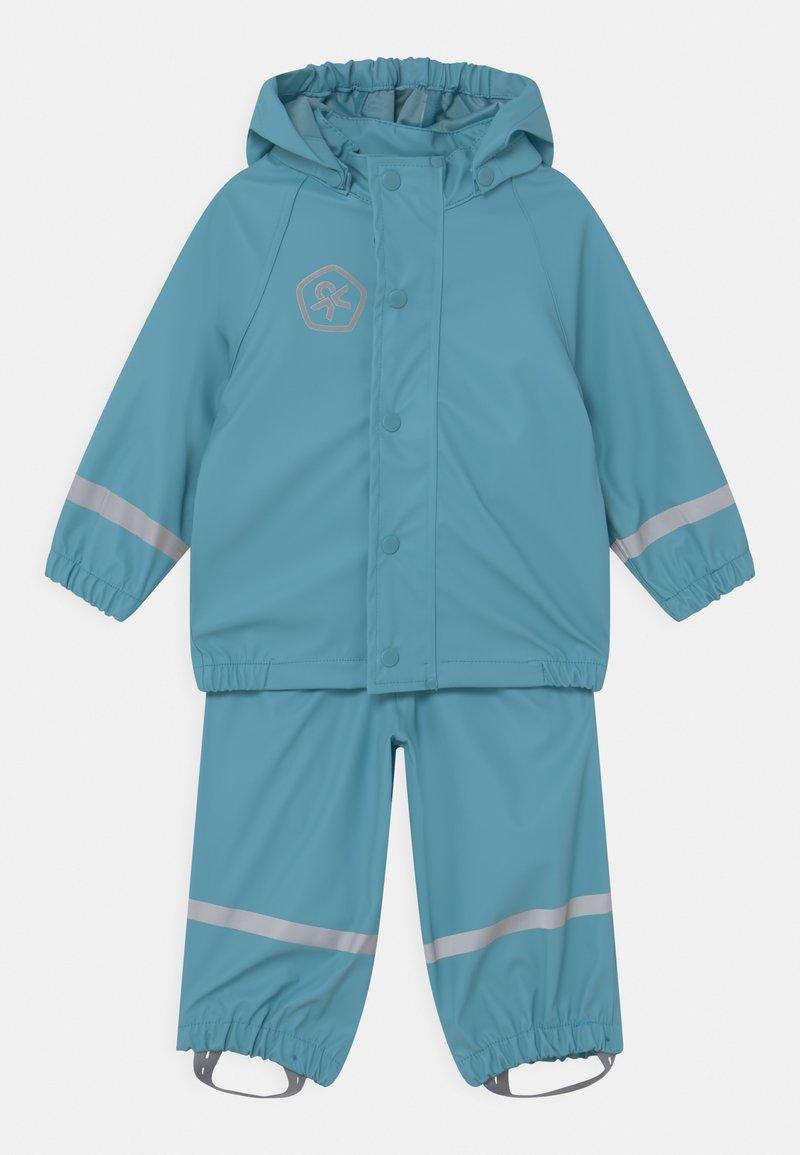 Color Kids - SET SOLID UNISEX - Vodotěsná bunda - delphinium blue