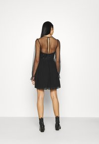 Nly by Nelly - RITZY DOT SKATER DRESS - Cocktail dress / Party dress - black - 2