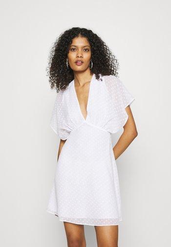 VAAL SHORT DRESS - Day dress - white