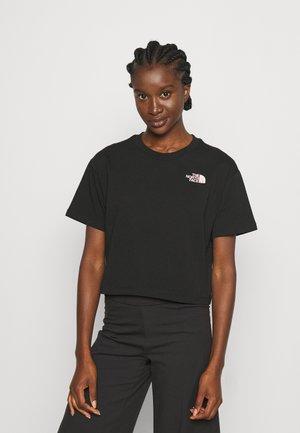SIMPLE DOME TEE - Printtipaita - black/white/pink/white