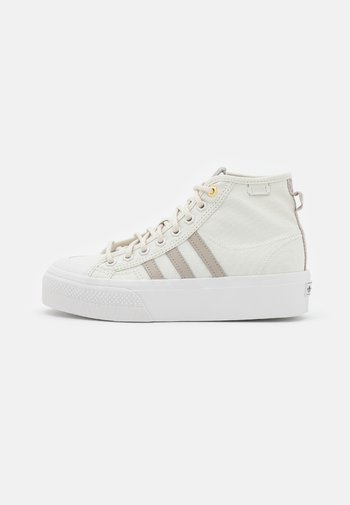 NIZZA PLATFORM MID  - Sneakers alte - orbit grey/light brown/crystal white