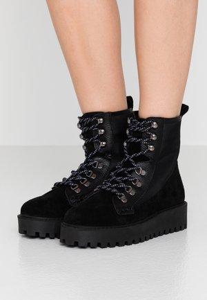 MINA BOOT - Platform ankle boots - black