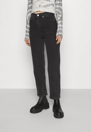 ZAMI WASHED  - Jean droit - black dark