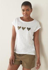 Next - Print T-shirt - white - 0