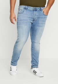 G-Star - 3301 SLIM - Slim fit jeans - light indigo aged - 0