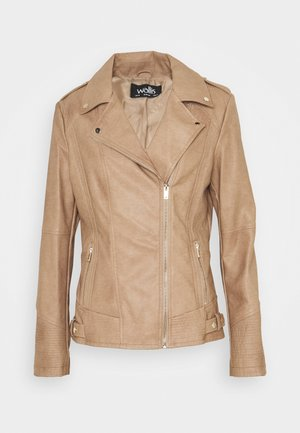 DARCEY BIKER - Faux leather jacket - neutral