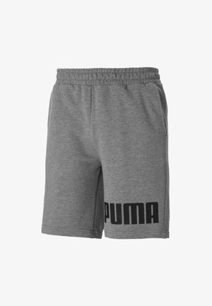 Shorts - medium gray heather-black