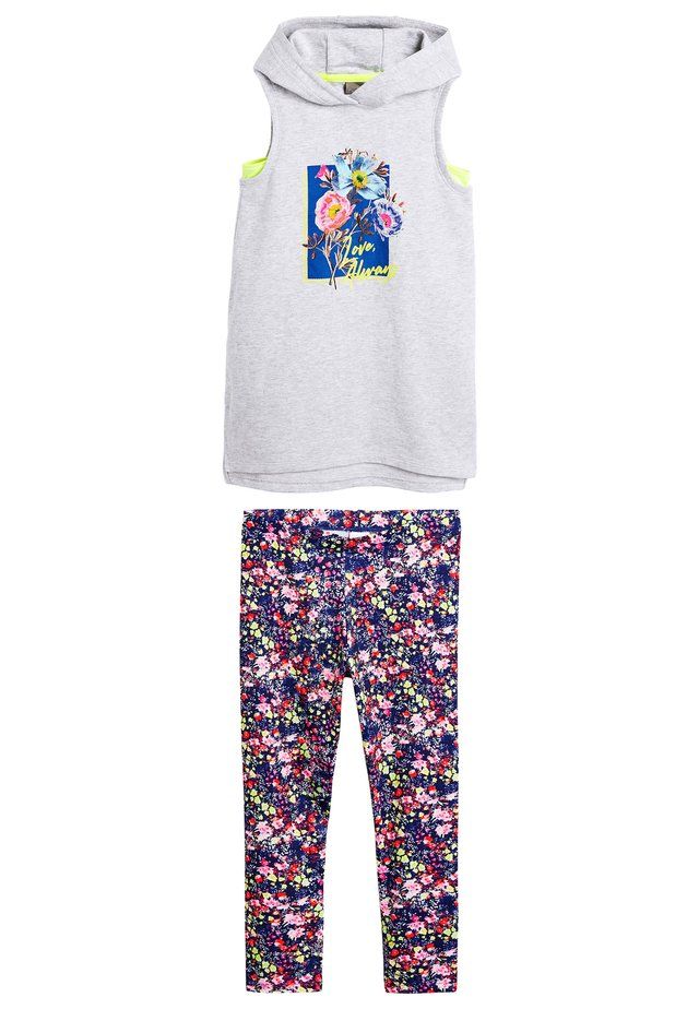 GREY FLORAL SPORTS AND LEGGING SET (3-16YRS) - Veste sans manches - grey