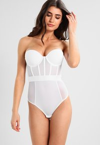 DKNY Intimates - SHEERS CUPPED STRAPLESS BODYSUIT - Body - white