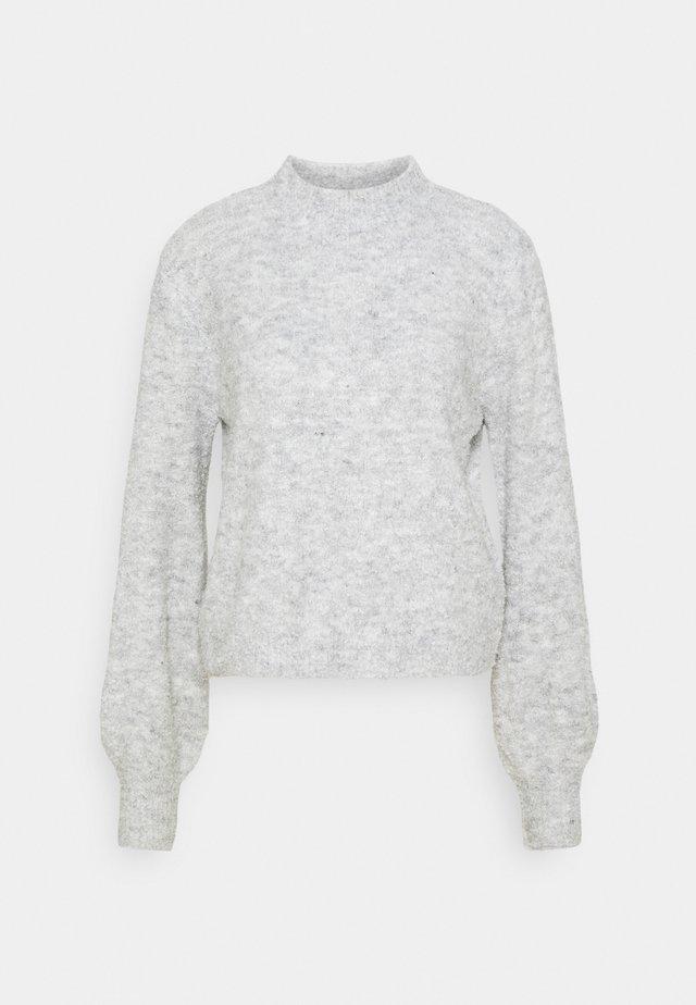 VMCARINA HIGHNECK BLOUSE - Sweter - light grey melange