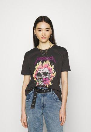 ONLMETALLICA LIFE BOX - Print T-shirt - phantom