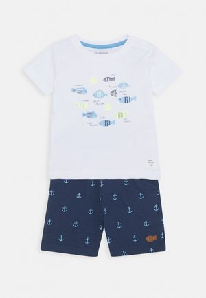 BABY SET - Kraťasy - dark blue/white
