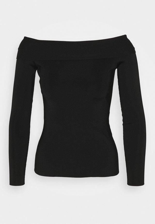 COMPACT SHINE BARDOT - Pullover - black