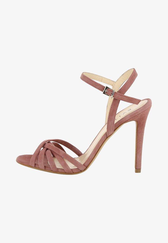 Højhælede sandaletter / Højhælede sandaler - mauve
