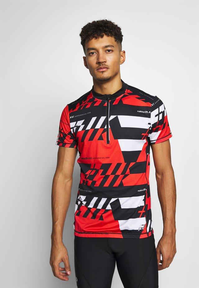 RAKSILA - T-shirt con stampa - classic red