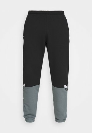 SLICE - Tracksuit bottoms - black/blue oxide