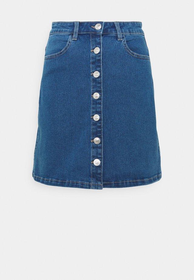 PCPAIGE SKIRT  - Spódnica mini - medium blue denim
