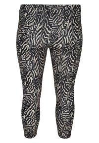 Zizzi - Leggings - Trousers - black zebra aop - 5