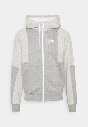 AIR HOODIE - Mikina na zip - grey heather/grey heather/white