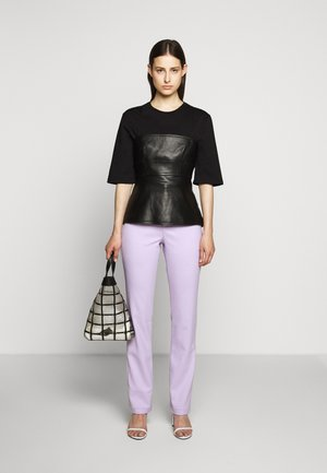 SUITING HIGH WAISTED PANT - Trousers - lilac