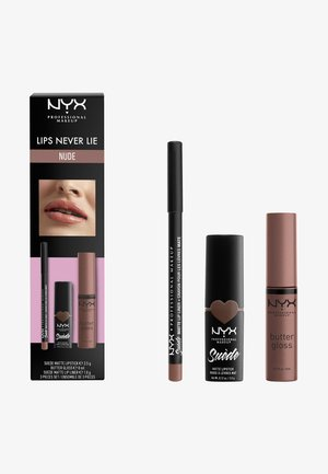 LIPS NEVER LIE SET - Set de maquillage - nude