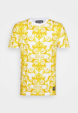 STRETCH LOGO BAROQUE - Print T-shirt - white