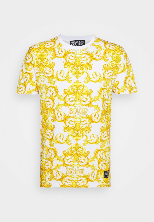 STRETCH LOGO BAROQUE - T-Shirt print - white