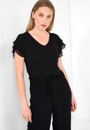 MIT V-AUSSCHNITT - Basic T-shirt - schwarz
