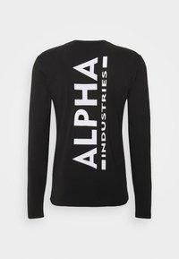Alpha Industries - BACK PRINT HEAVY - Long sleeved top - black - 7