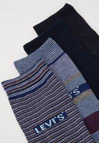 Levi's® - GIFTBOX REGULAR CUT STRIPES 4 PACK - Socks - blue combo - 1