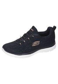 Skechers Sport - DAMEN SLIPPER - Zapatillas - black - 1