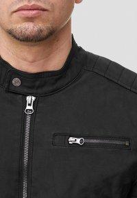 INDICODE JEANS - MANUEL - Leather jacket - black - 3