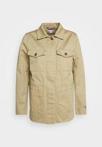 MONTI FIELD - Denim jacket - surplus khaki