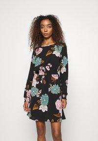 ONLY - ONLNOVA LUX SMOCK SHORT DRESS - Day dress - black - 0