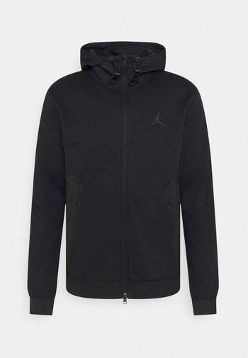 AIR  HOODIE - Felpa con zip - black