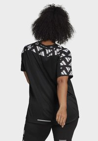 adidas Performance - OWN THE RUN CELEBRATION T-SHIRT (PLUS SIZE) - T-shirt print - black - 1