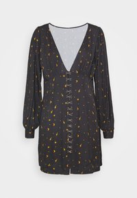 Milk it - MYSTICAL DRESS RUCHED BUST & HOOK ANDEYE DETAILING - Day dress - black - 5