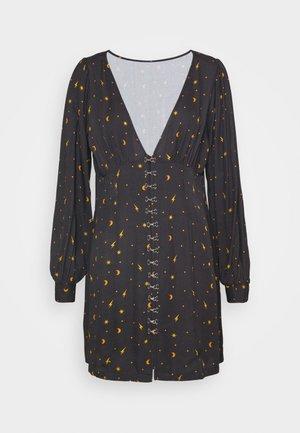 MYSTICAL DRESS RUCHED BUST & HOOK ANDEYE DETAILING - Day dress - black
