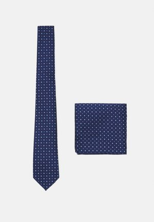 ONSTY PATTERN TIE SET - Pocket square - dark navy