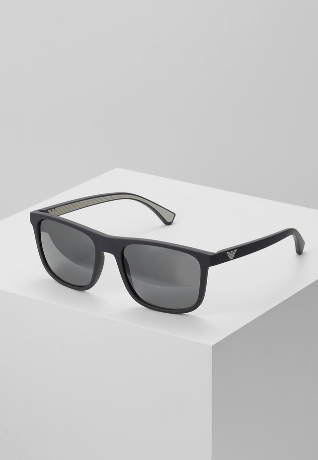 Sunglasses - matte grey / grey mirror silver